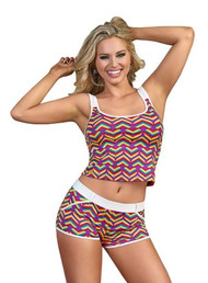Pride Rainbow Hearts Tank Top and Short Set