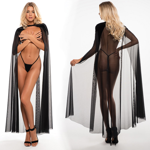 Allure Lingerie Adore Chloe Kiss Me Again Sheer Mesh Cape