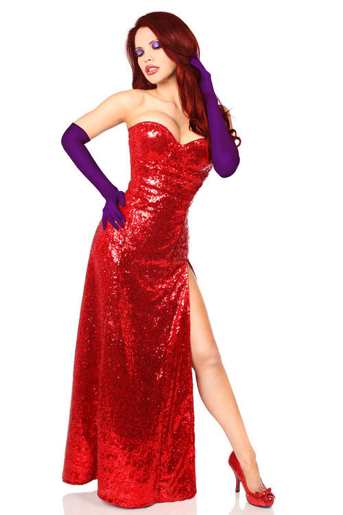 Jessica Rabbit Corset Dress Costume by Daisy Corsets