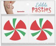 Edible Christmas Candy Swirl Pasties