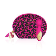 Lovely Leopard Mini Wand Vibrator and Bag by Rianne S-Pink