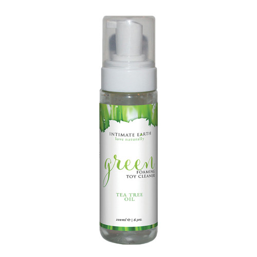 Intimate Earth Green Foaming Toy Cleaner with Tea Tree Oil-6.3 fl oz