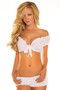 Tie Front Sleeveless Peasant Top by Daisy Corsets-White