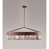 Zeev Lighting Cuspis Collection Antique Copper Chandelier CD10079/8/ACP