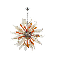 Zeev Lighting Florence Collection Murano Chrome And Amber Chandelier CD10098/12/CH