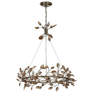 Zeev Lighting Misthaven Collection Antique Gold Chandelier CD10101/6/SL-AGP/CC
