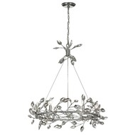 Zeev Lighting Misthaven Collection Silver Leaf Chandelier CD10101/6/SL-CL