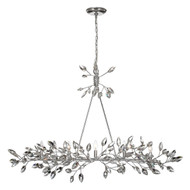 Zeev Lighting Misthaven Collection Silver Leaf Chandelier CD10102/5/SL-CL