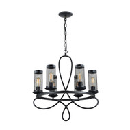 Zeev Lighting Kenosha Collection Rustic Black Chandelier CD10111/6/RCBK