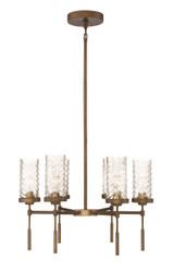 Zeev Lighting Triticus Collection Antique Brass Chandelier CD10116/6/AB