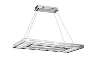 Zeev Lighting Hyperion Collection Chrome And Stainless Steel LED 4000K Chandelier CD10143/LED/CH-D