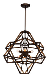 Zeev Lighting Unity Collection Chestnut Bronze/ Gold Chandelier CD10146/6/CB-G