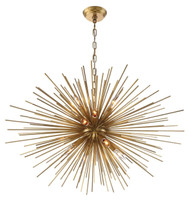 Zeev Lighting Burst Collection Aged Brass Chandelier CD10156/12/AGB