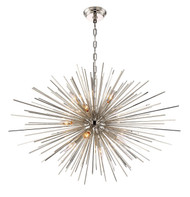 Zeev Lighting Burst Collection Polished Nickel Chandelier CD10157/12/PN