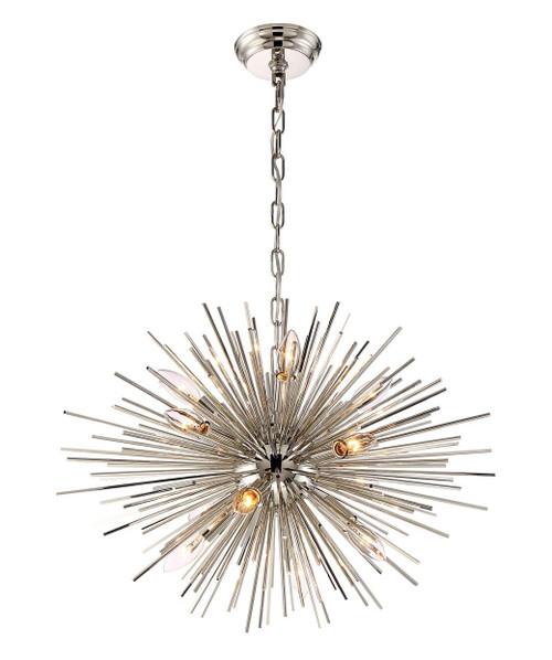 Zeev Lighting Burst Collection Polished Nickel Chandelier