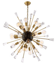 Zeev Lighting Muse Collection Aged Brass And Matt Black Chandelier CD10163/24/AGB+MBK