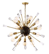 Zeev Lighting Muse Collection Aged Brass And Matt Black Chandelier CD10164/18/AGB+MBK
