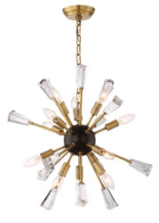 Zeev Lighting Muse Collection Aged Brass And Matt Black Chandelier CD10165/12/AGB +MBK