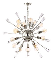 Zeev Lighting Muse Collection Polished Nickel Chandelier CD10167/18/PN
