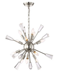 Zeev Lighting Muse Collection Polished Nickel Chandelier CD10168/12/PN