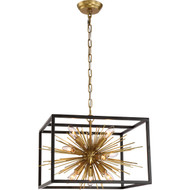 Zeev Lighting Burst Collection Aged Brass And Matte Black Chandelier CD10172/9/AGB+MBK