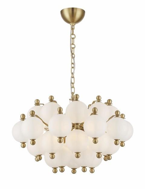 Zeev Lighting Rondure Collection Polished Brass Chandelier
