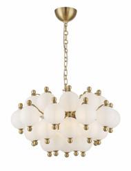 Zeev Lighting Rondure Collection Polished Brass Chandelier CD10174/10/PB