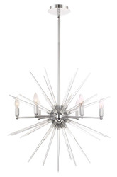 Zeev Lighting Pulsar Collection Chrome Chandelier CD10179/6/CH