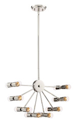 Zeev Lighting Eye Of London Collection Polished Nickel Chandelier CD10180/16/PN