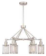 Zeev Lighting Geminus Collection Brushed Nickel Chandelier CD10182/6/BN