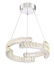 Zeev Lighting Shift Collection Chrome LED Chandelier CD10191/LED/CH
