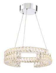 Zeev Lighting Shift Collection Chrome LED Chandelier CD10192/LED/CH