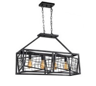 Zeev Lighting Plexus Collection Rustic Iron Chandelier CD10194/4/RI