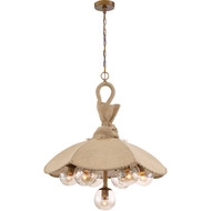 Zeev Lighting Du Jour Antique Brass Chandelier CD10195/7/AB