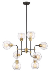 Zeev Lighting Pierre Polished Brass And Matte Black Chandelier CD10199/8/PB+MBK