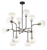 Zeev Lighting Pierre Polished Nickel And Matte Black Chandelier CD10223/12/PN+MBK