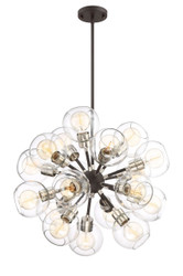 Zeev Lighting Pierre Polished Nickel And Matte Black Chandelier CD10225/18/PN+MBK