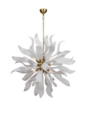 Zeev Lighting Florence Collection Murano Polished Brass Chandelier CD10237/12/PB