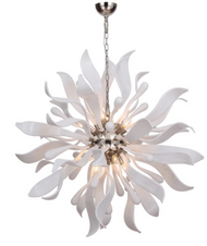 Zeev Lighting Florence Collection Murano Polished Nickel Chandelier CD10238/12/PN