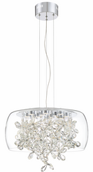 Zeev Lighting Destiny Collection Chrome LED Chandelier CD10245/LED/CH