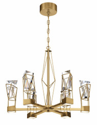 Zeev Lighting Gem Collection Brushed Brass LED Chandelier CD10252/LED/BB
