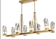 Zeev Lighting Gem Collection Brushed Brass LED Chandelier CD10254/LED/BB