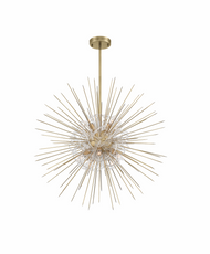 Zeev Lighting Flare Collection Aged Brass Chandelier CD10264/8/AGB