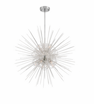 Zeev Lighting Flare Collection Polished Nickel Chandelier CD10265/8/PN