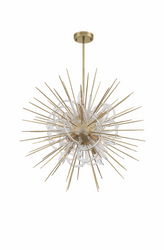 Zeev Lighting Flare Collection Aged Brass Chandelier CD10266/8/AGB