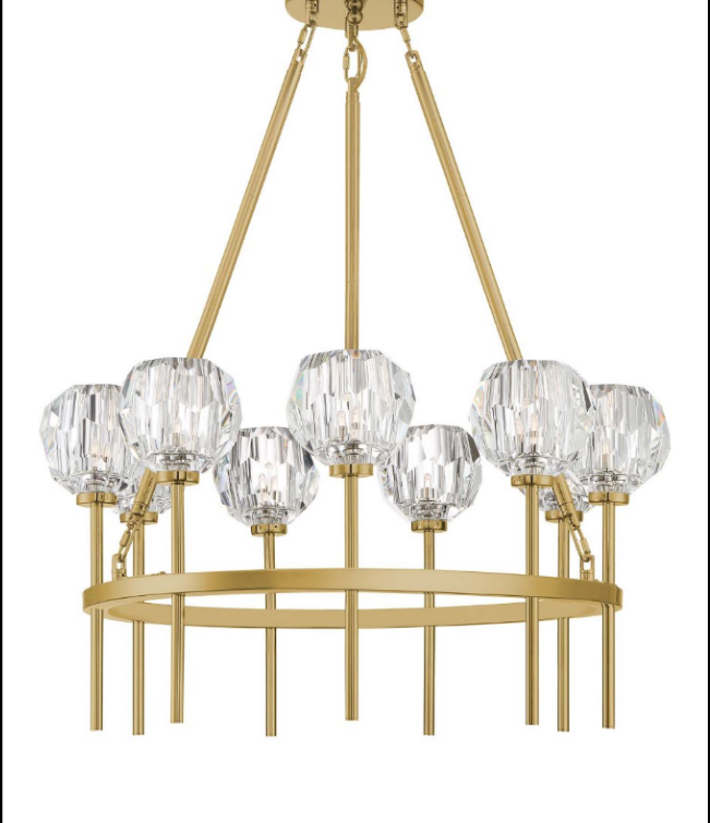 Zeev Lighting Parisian Aged Brass Chandelier Cd10270 9 Agb