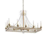 Zeev Lighting Greenwich Collection Aged Brass Chandelier CD10274/12/AGB