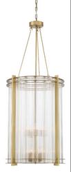 Zeev Lighting Regis Collection Aged Brass Chandelier CD10287/8/AGB