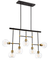 Zeev Lighting Pierre Polished Brass And Matte Black Chandelier CD10291/7/PB+MBK