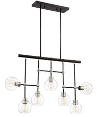 Zeev Lighting Pierre Polished Brass And Matte Black Chandelier CD10292/7/PN+MBK